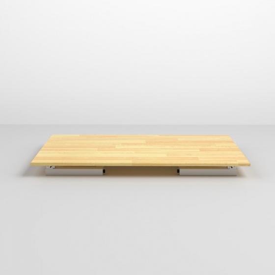 Bàn bệt Rec-B gấp gọn gỗ cao su- IBIE
