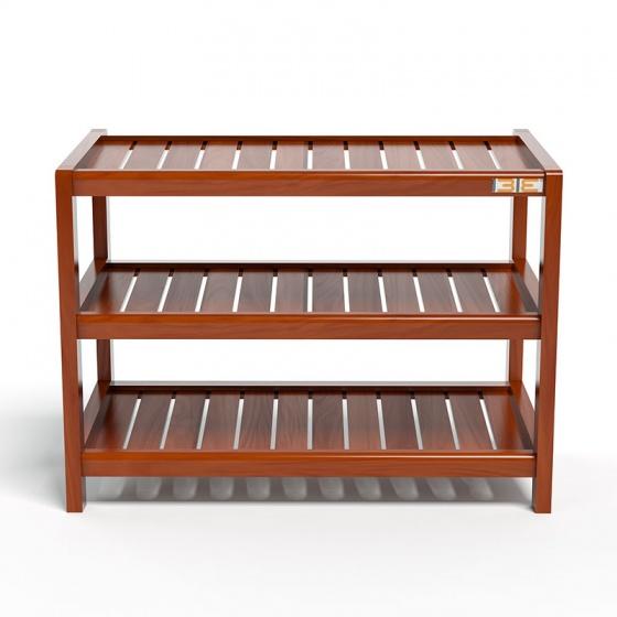 Kệ dép 3 tầng IB363 gỗ cao su 63x30x50 cm màu cánh gián