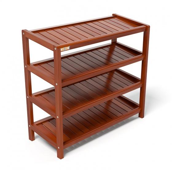 Kệ dép 4 tầng IB473 gỗ cao su 73x30x68 cm màu cánh gián