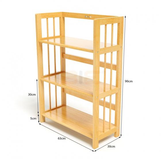 Kệ sách 3 tầng HB363 gỗ cao su màu tự nhiên (63x30x90cm)