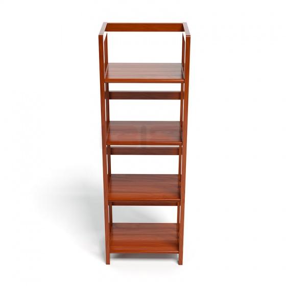 Kệ sách 4 tầng HB440 gỗ cao su màu cánh gián (40x30x120cm)