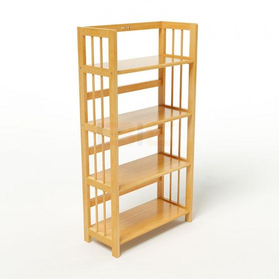 Kệ sách 4 tầng HB463 gỗ cao su màu tự nhiên (63x30x120cm) - IBIE