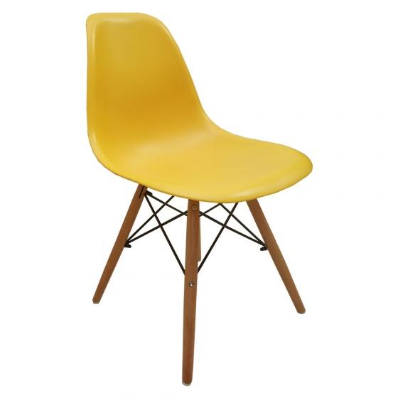 Ghế cafe Eames chân gỗ vàng
