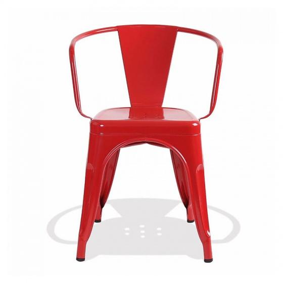 Ghế Tolix có tay màu đỏ - IBIE
