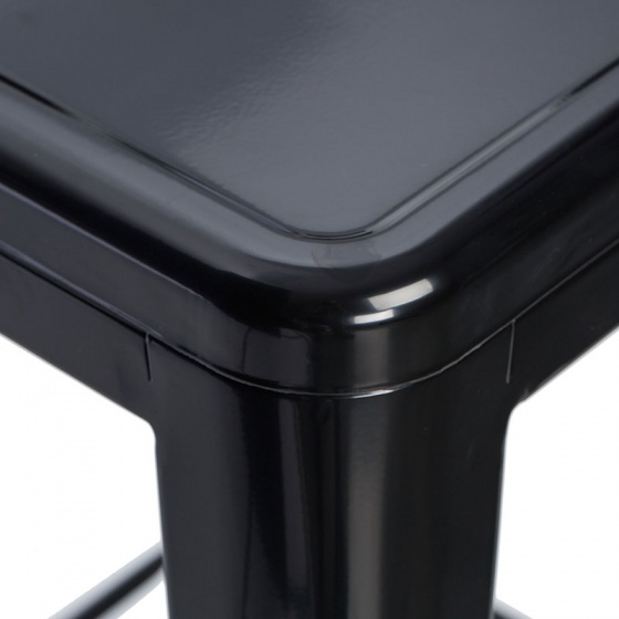 Ghế bar Tolix chân cao màu đen - IBIE