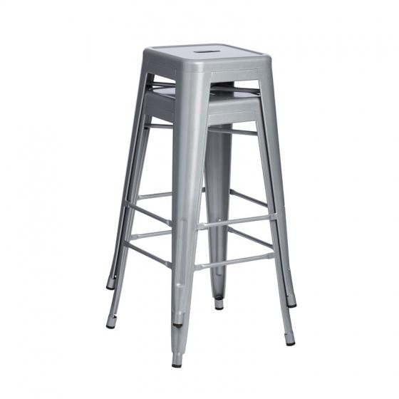 Ghế bar Tolix chân cao màu titan - IBIE