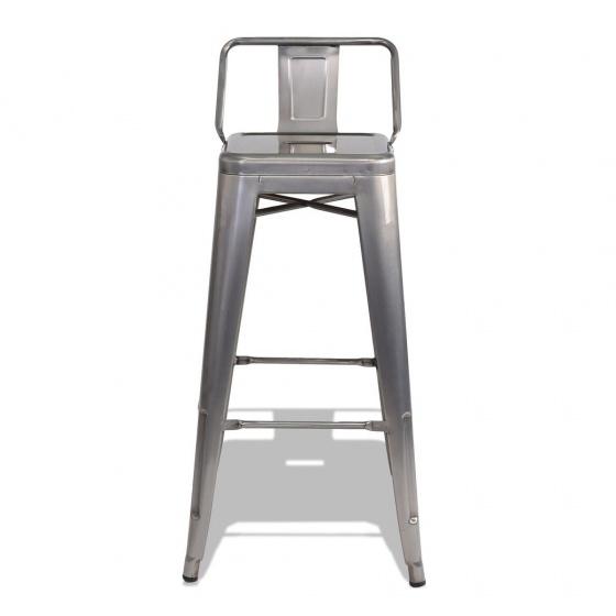 Ghế bar Tolix lưng thấp màu Titan - IBIE