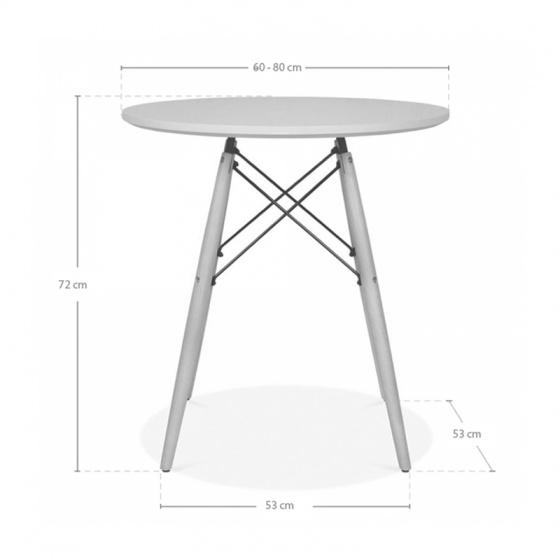 Bộ bàn tròn Eiffel trắng 2 ghế - IBIE