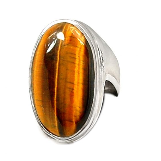 Nhẫn đá Mắt hổ bạc 925 cao cấp Hadosa