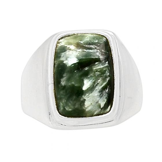 Nhẫn đá Seraphinite bạc 925 cao cấp