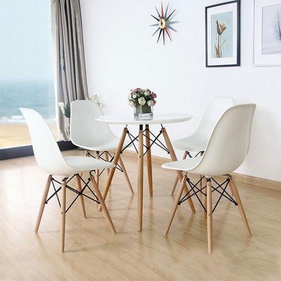 Bộ bàn tròn Eiffel 4 ghế Eames – IBIE