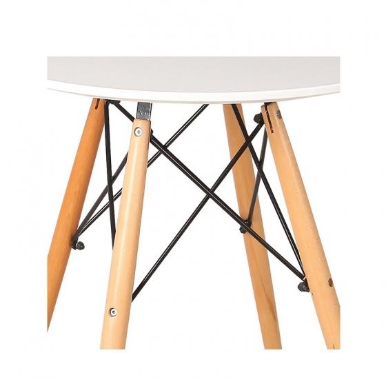 Bộ bàn tròn Eiffel trắng 4 ghế Eames - IBIE