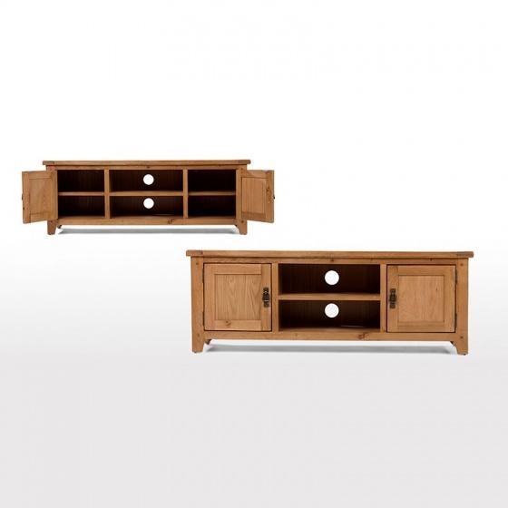 Tủ TV 2 cánh Rustic gỗ sồi - IBIE