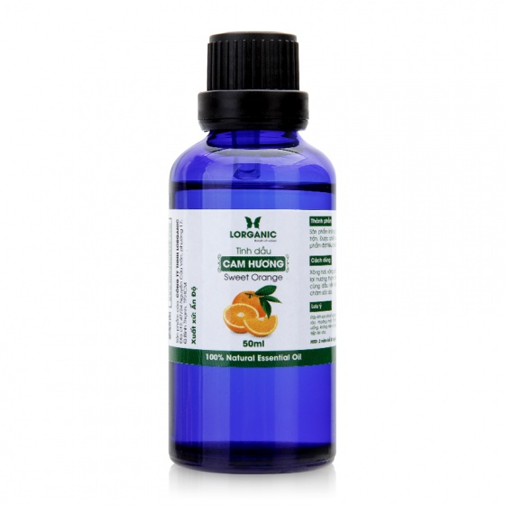 Tinh dầu cam hương Lorganic sweet orange 100% natural essential oil 50ml