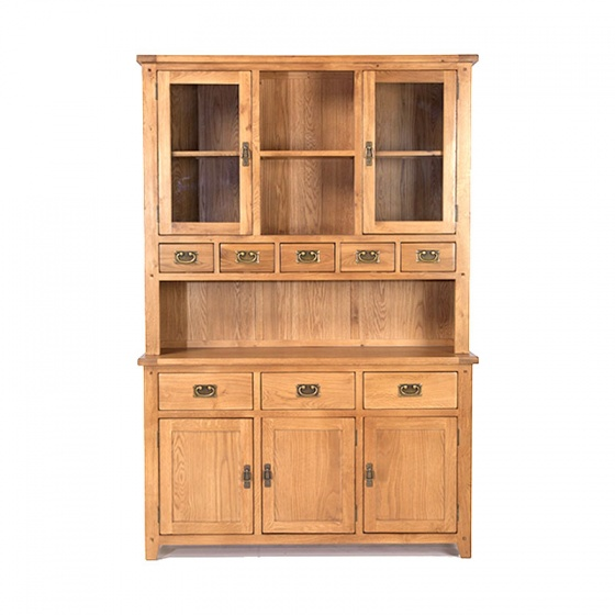 Tủ bếp 3 cánh Rustic gỗ sồi - IBIE