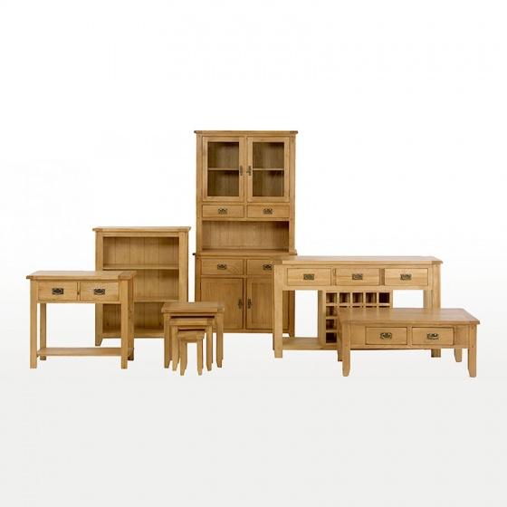 Tủ trữ đồ 2 cánh Rustic gỗ sồi - IBIE
