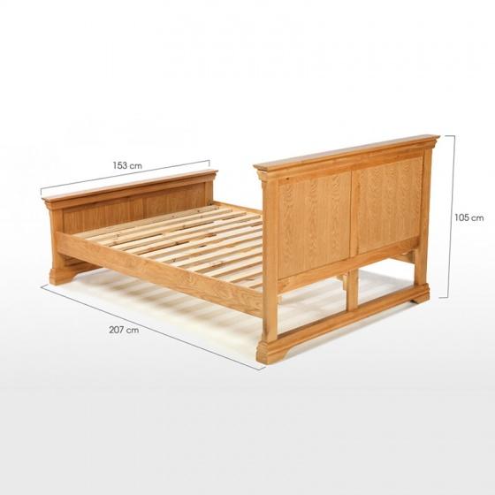 Giường đôi IBIE Victoria gỗ sồi 1m6