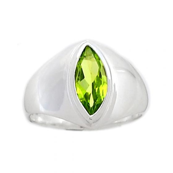 Nhẫn đá Peridot bạc 925 cao cấp Hadosa