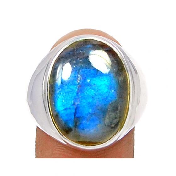 Nhẫn đá xà cừ bạc 925 cao cấp size 10 Hadosa