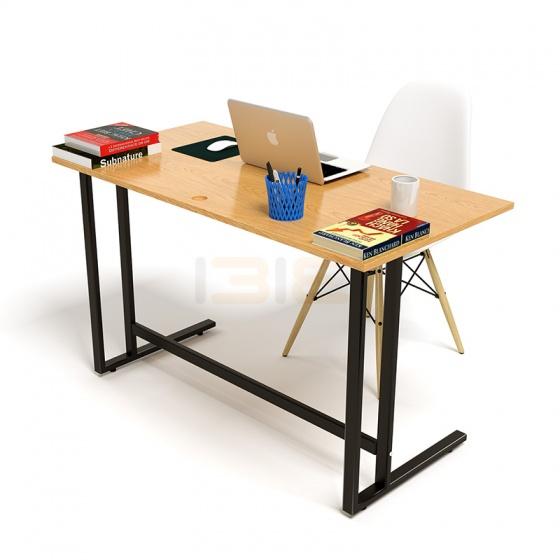 Bộ bàn Oak-U vân gỗ sồi chân đen và ghế Eames chân gỗ trắng - IBIE