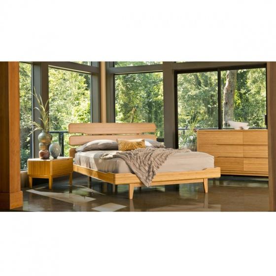 Giường đôi Ibie Tentai gỗ sồi 2m