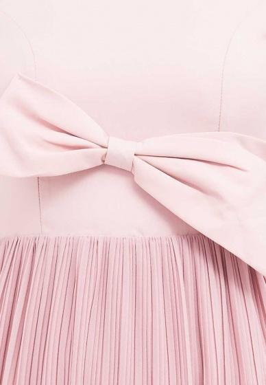 Đầm Amun tùng dập ly phối nơ màu hồng : DX129-Hong