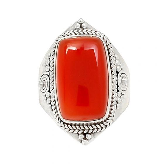 Nhẫn nữ đá Carnelian cao cấp Hadosa