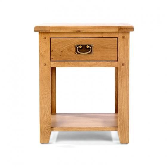 Tủ đầu giường Rustic 1 ngăn gỗ sồi - IBIE
