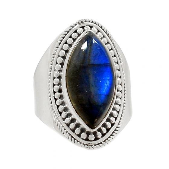 Nhẫn đá xà cừ bạc 925 Hadosa