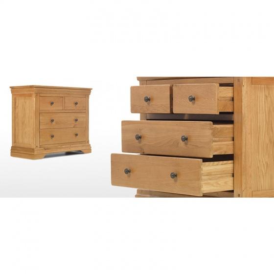 Tủ 4 ngăn kéo ngang IBIE Victoria gỗ sồi