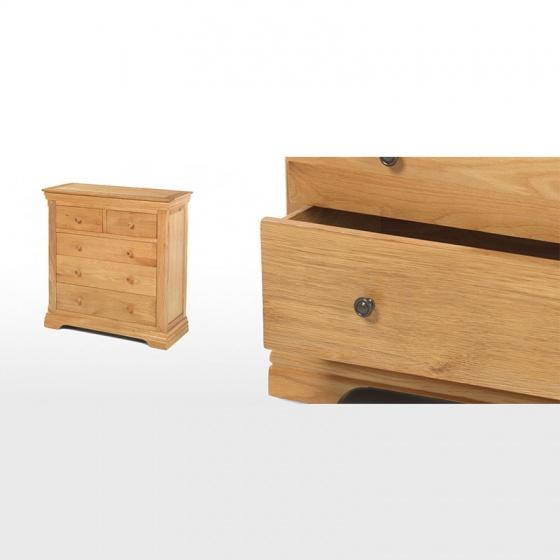 Tủ 5 ngăn kéo ngang IBIE Victoria gỗ sồi