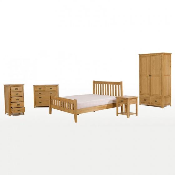 Tủ 5 ngăn kéo đứng IBIE Rustic gỗ sồi