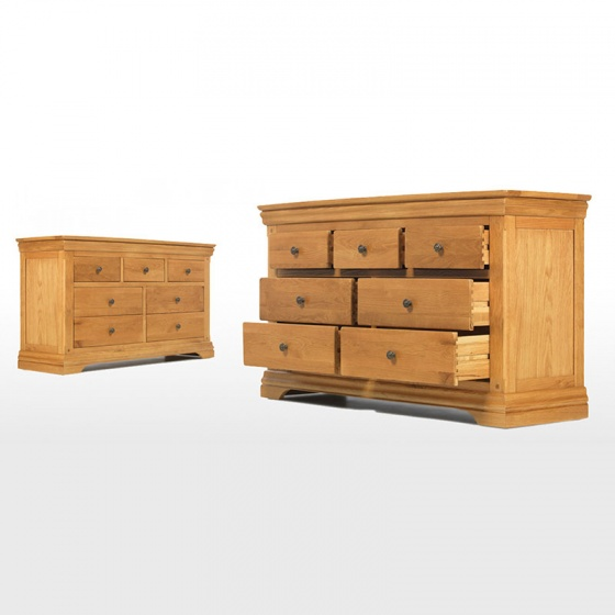 Tủ 7 ngăn kéo ngang Victoria gỗ sồi - IBIE