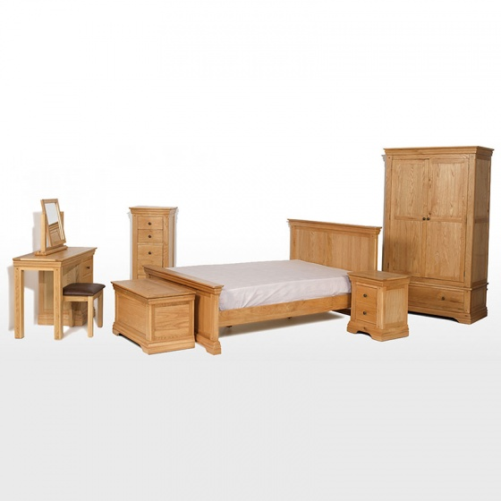 Tủ quần áo Victoria 2 cánh suốt gỗ sồi - IBIE