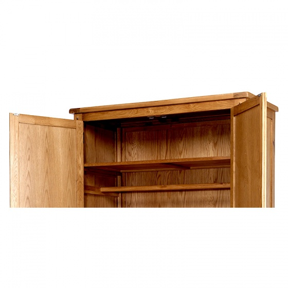 Tủ quần áo Rustic 2 cánh suốt gỗ sồi - IBIE