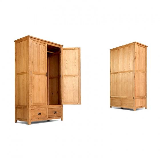 Tủ quần áo Rustic 2 cánh gỗ sồi - IBIE