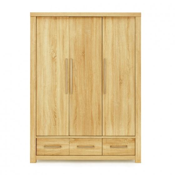 Tủ quần áo IBIE Cuba 3 cánh gỗ sồi 1m4