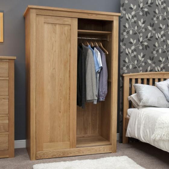 Tủ quần áo cửa lùa Ibie SDR1O gỗ sồi 1m2