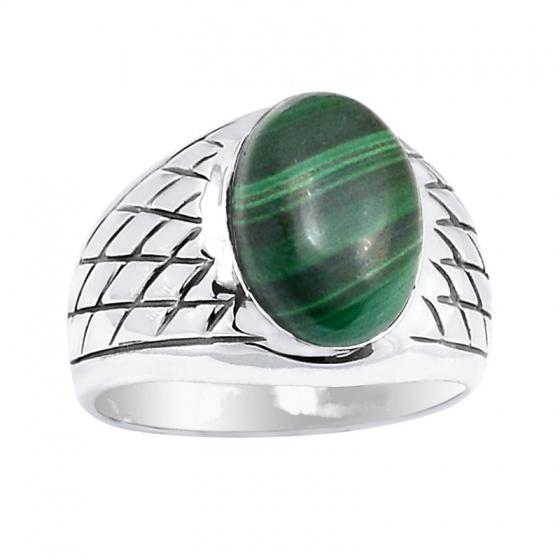 Nhẫn bạc nữ đá lông công cao cấp Hadosa
