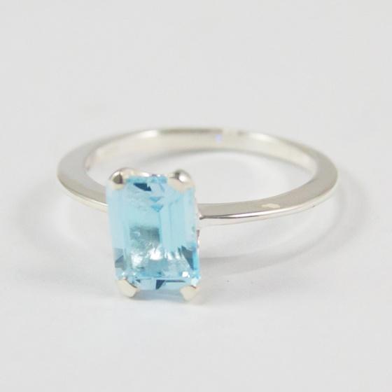 Nhẫn bạc nữ đá Topaz cao cấp Hadosa bạc 925