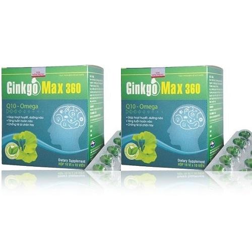 Bộ 2 thực phẩm bảo vệ sức khỏe Ginkgo max 360
