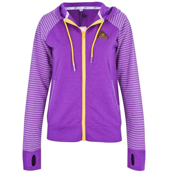 Kisetsu - Áo khoác chống nắng chống tia UV sọc phối trơn - Purple