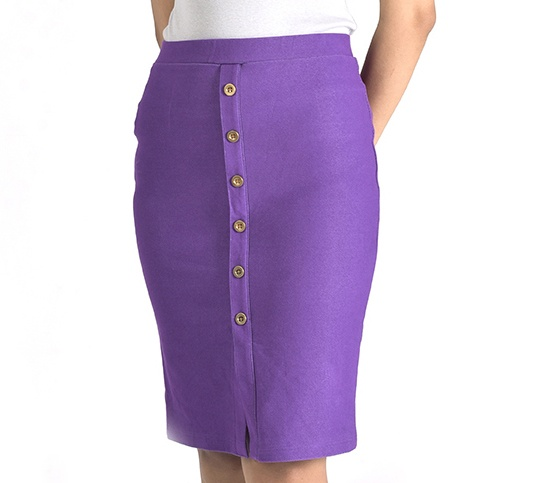 Kisetsu - Váy ôm denim - Purple
