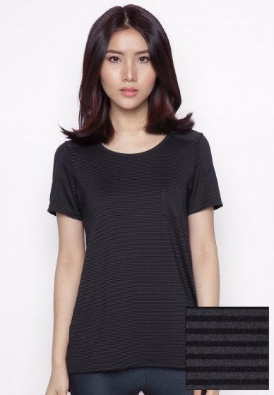 Kisetsu - T-shirt tay ngắn form dài - Black