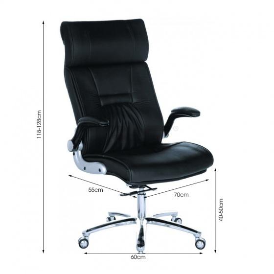 Ghế Giám đốc IB015 2 cần chân nhôm tay điều chỉnh cao cấp màu đen