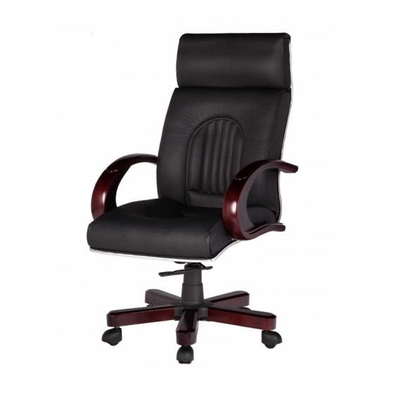 Ghế Giám đốc IB011 2 cần chân gỗ cao cấp màu đen