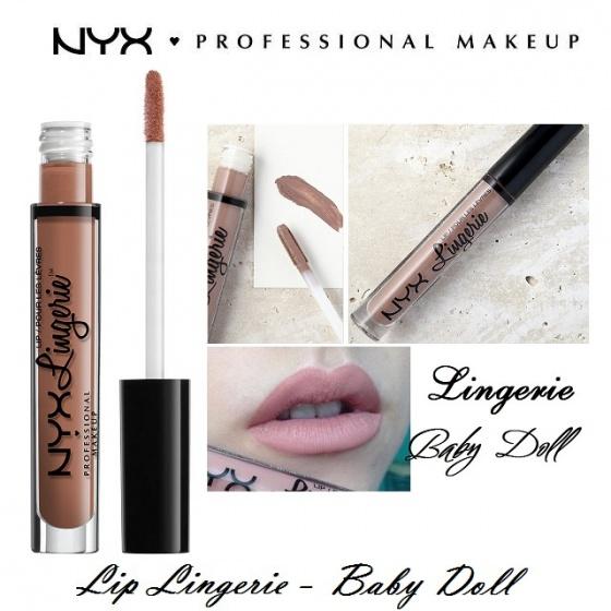 Son kem lì NYX lingerie liquid matte lipstick LIPLI11 Baby doll
