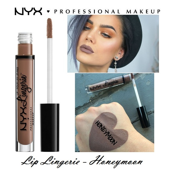 Son kem lì NYX lingerie liquid matte lipstick LIPLI01 Honeymoon