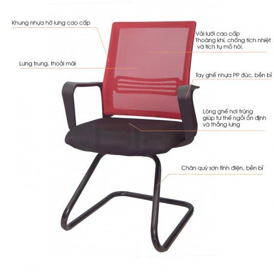 Ghế chân quỳ IB8308 khung nhựa đúc liền tay - IBIE