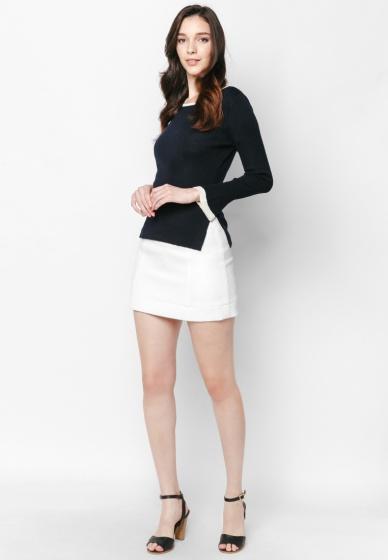 Áo len navy dài tay chuông - Mimi
